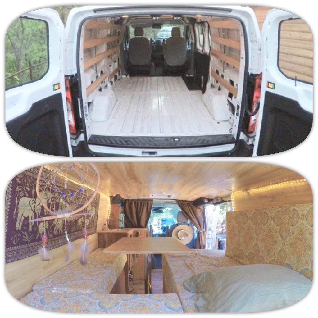 Used Ford Transit Connect In Widnes Cheshire: DIY Budget Van Build: How I Converted A Cargo Van Into A